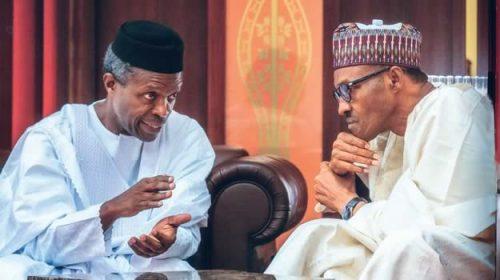 Buhari meets with Osinbajo, service chiefs behind closed doors