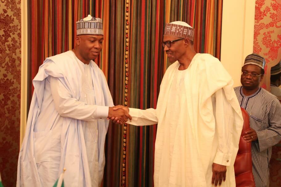 Breaking: Buhari, Osinbajo, Saraki, governors in crucial meeting in Aso Villa